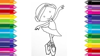 How to Draw a Ballerina Dancer step by step