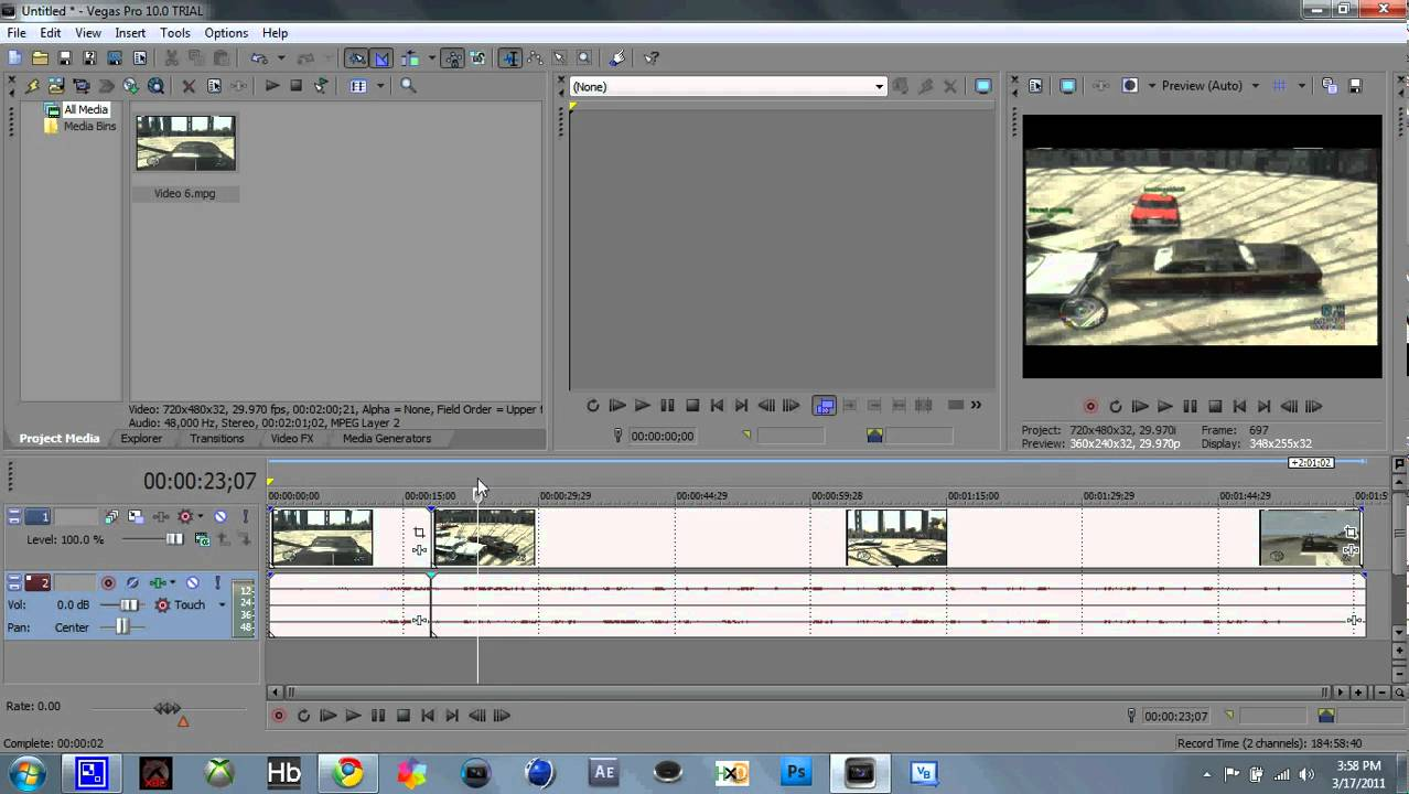 Sony Vegas Pro 10 How To Slow Motion And Speed Up Video Clips Hd Tutorial