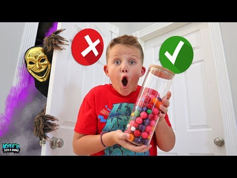 Spooky Dont Choose the Wrong Door Halloween Candy Challenge!