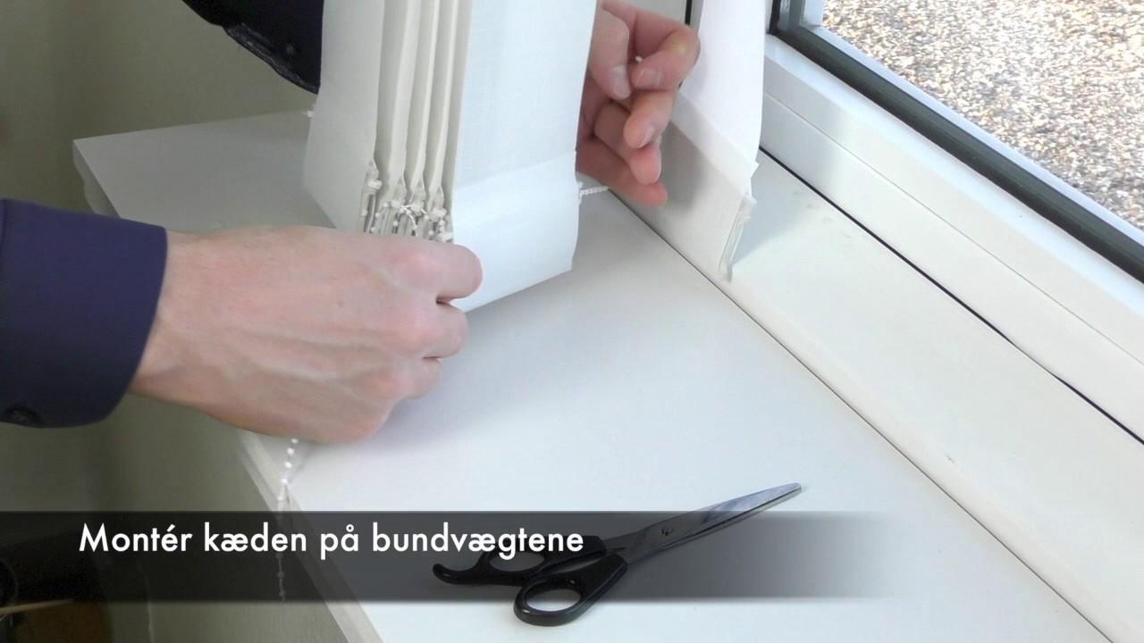 Kjempebra Montering af Lamelgardin fra Gardinshoppen.dk - YouTube ST-48