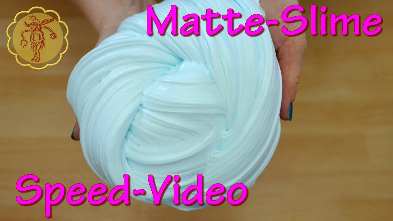 speed video matte slime selber machen diy youtube. Black Bedroom Furniture Sets. Home Design Ideas