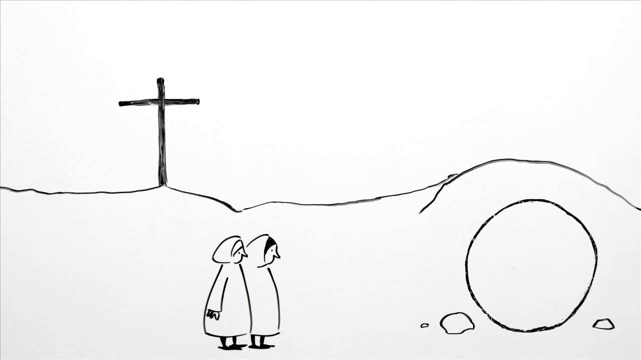 Die Ostergeschichte - Von einem Zeichner dargestellt