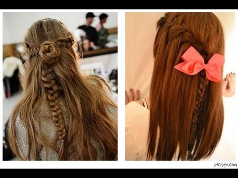 Peinado Facil Con Extensiones Ombre Youtube
