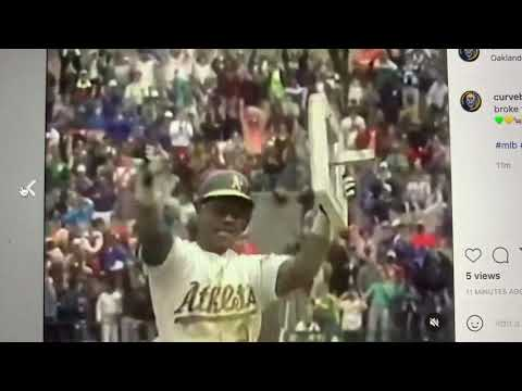 Oakland A's Ricky Henderson 30th Anniversary Of Day He Broke All-Time Stolen Base Record