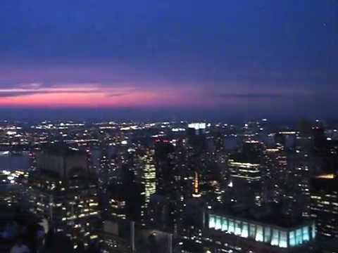 NYC - View from Rockefeller Centre at Night