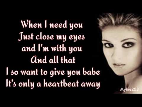 Celine Dion - When I Need You (lyrics) 90's Throwback
