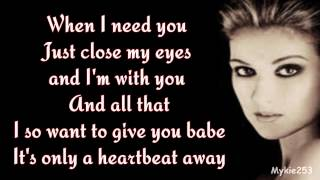 Celine Dion - When I Need You (lyrics) 90