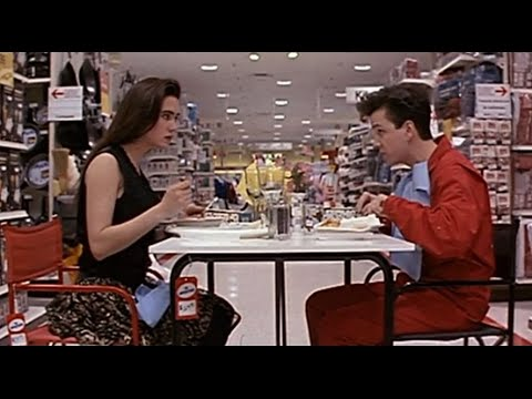 Download Free Dinner with good dialogues | Jennifer Connelly and Frank Whaley( Career Opportunities (1991) )