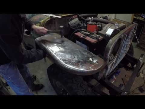 Shrinking Stretched Sheet metal with a Propane Torch