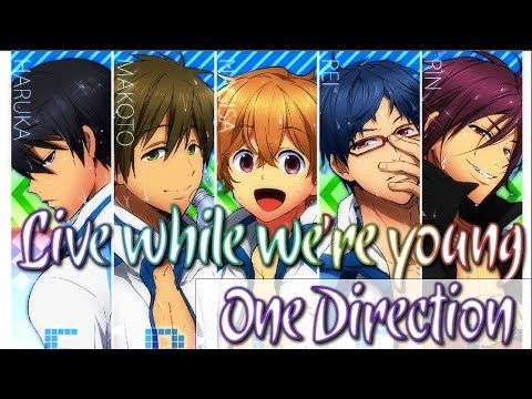 「Nightcore」Live While We're Young - One Direction (Switching Vocals) ll Lyric