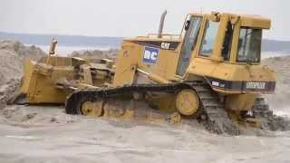 counterfeit of cat d6n lgp in action must see hard struggle