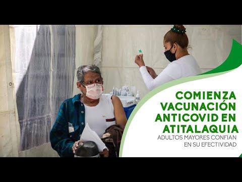 Comienza vacunación anticovid en Atitalaquia, adultos mayores confían en su efectividad