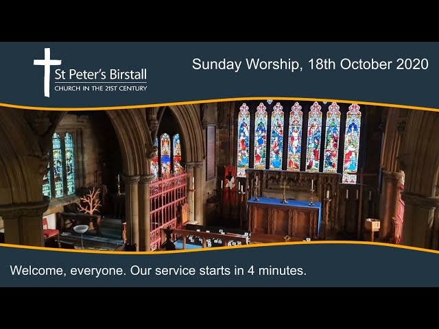 Online worship, 18th October 2020