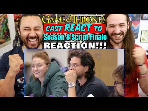 GAME OF THRONES Cast REACT To Season 8 Script FINALE - REACTION!!!!!