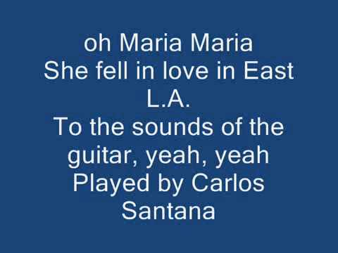 Santana featWyclef JeanMaria Maria Lyrics By Croquinambourg Team