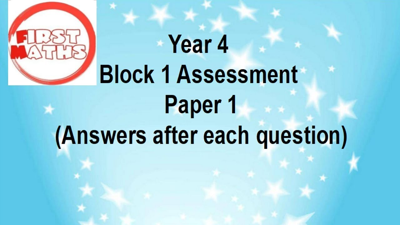 FREE Year 4 Termly Maths Assessments YouTube PowerPoint Presentations