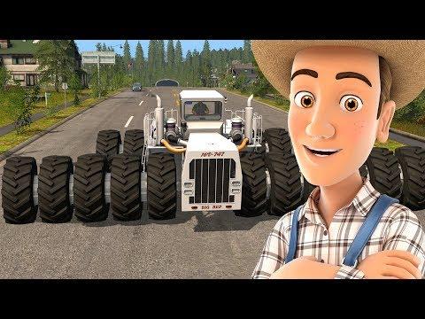 Tractor Video for Kids - Big Monster Tractors  PART 3