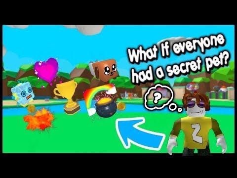 What Would Happen If EVERYONE HAD a SECRET PET! - Roblox Bubble Gum Simulator