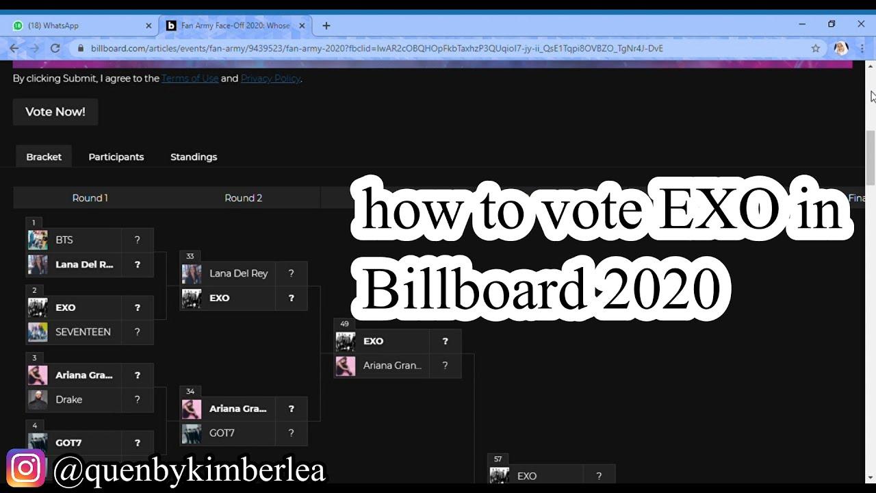 Tutorial Vote Exo In Billboard 2020 Exo Exovote Kpop Exol Youtube