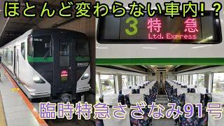 【E257系初運用!】臨時特急さざなみ91号館山行きに乗ってきた。