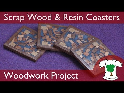 Woodwork Project: Coasters from Scrap Wood and Resin