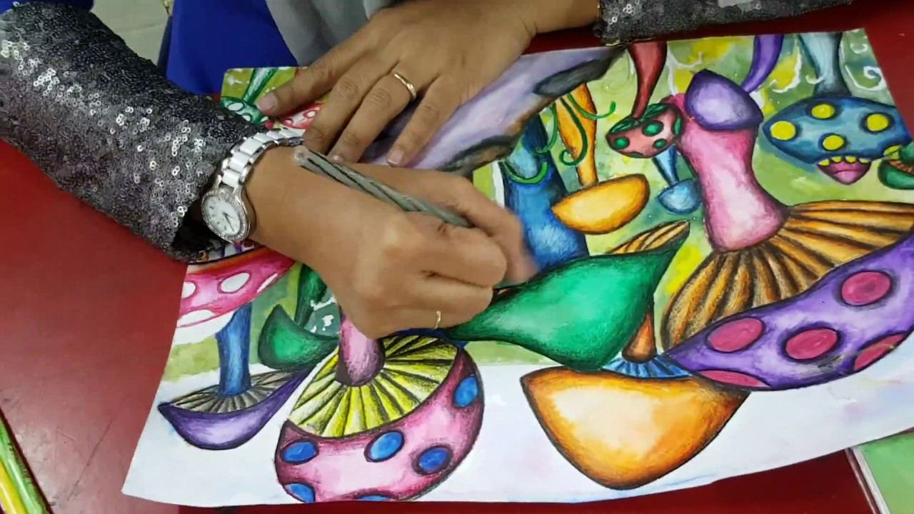 How To Colour Mushroom Cara Mudah Mewarna Cendawan By Cikgu Norazian Rona Part 2 Youtube