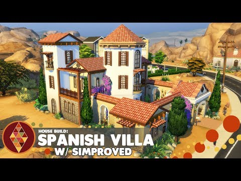 SPANISH VILLA w/Simproved - The Sims 4 - Duo Builds Challenge | HD thumbnail