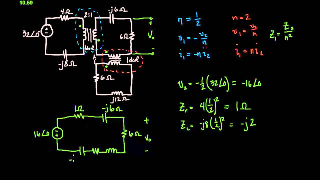 Solving Circuits With An Ideal Transformer