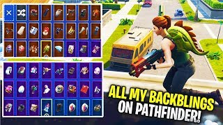 Fortnite - PATHFINDER Skin + All My Backblings (Rare Skin Showcase)