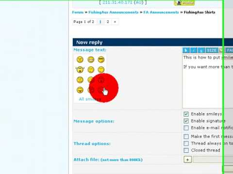 FishingAus ; The latest of fishing forums. Using smileys on FA Forums