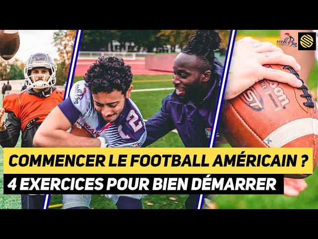 4 EXERCICES POUR COMMENCER LE FOOTBALL AMÉRICAIN ft. L'ÉQUIPE DE FRANCE ! DU BANC AU TOUCHDOWN EP1