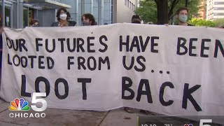 Black Lives Matter Holds Rally Supporting Individuals Arrested in Chicago Looting | NBC Chicago
