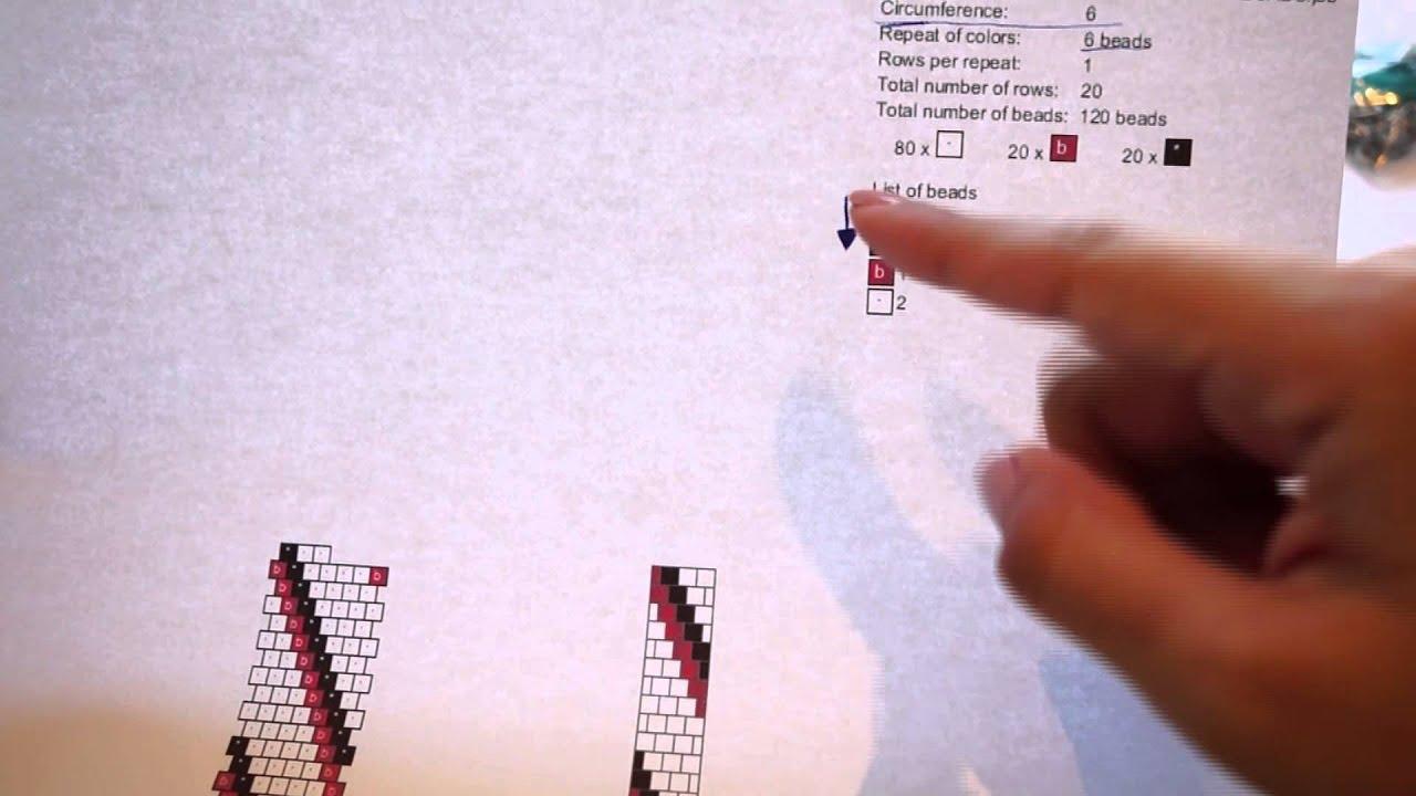 Crochet tubular con cuentas - PARTE 2: CÓMO LEER PATRONES - YouTube