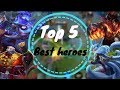 Top 5 Best Heroes For Climbing Ranked In Aov | Arena Of Valor  Liên Quân