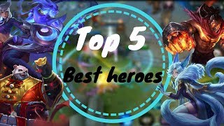 TOP 5 BEST HEROES FOR CLIMBING RANKED IN AOV! | Arena of Valor / Liên Quân