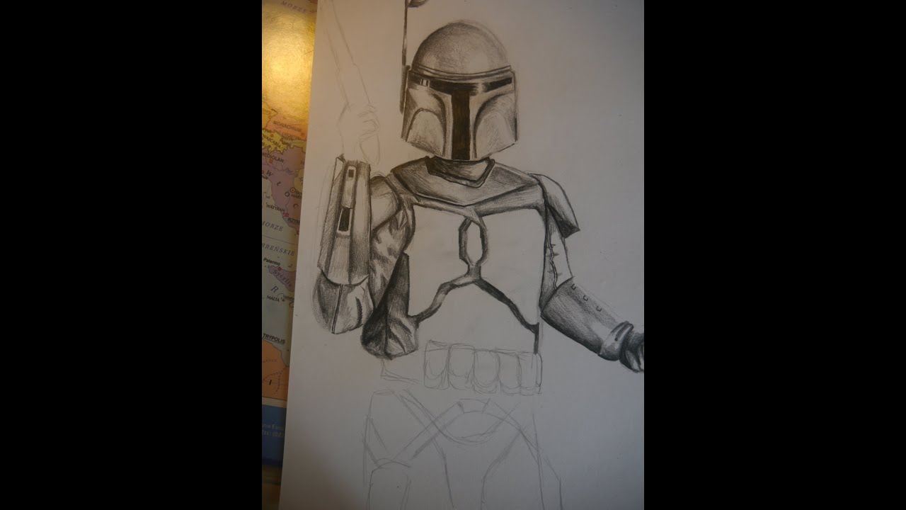 how to draw jango fett
