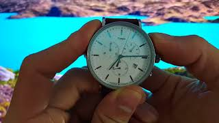 To adjust chronograph on Timex The Fairfield TW2R26700