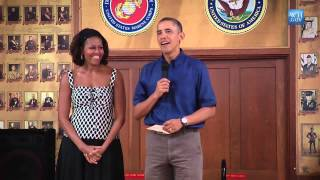 President Obama wish Merry Christmas to Troops at Marine Corps Base Hawaii