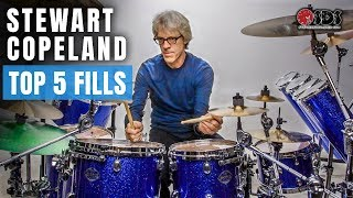 Top 5 Stewart Copeland Drum Fills Every Drummer Should Know | Stephen Taylor Drum Lesson