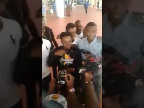 Arrivée de KOREDO BELLO à l'aéroport de Bamako