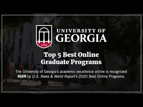 UGA Ranked Best Online Degree Programs By US News And World Report 2020