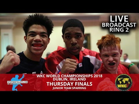 Ring 2 (3) Junior Team Sparring Finals | 2018 WKC World Championships In Dublin Ireland
