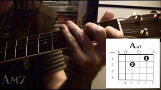 guitar chord am7
