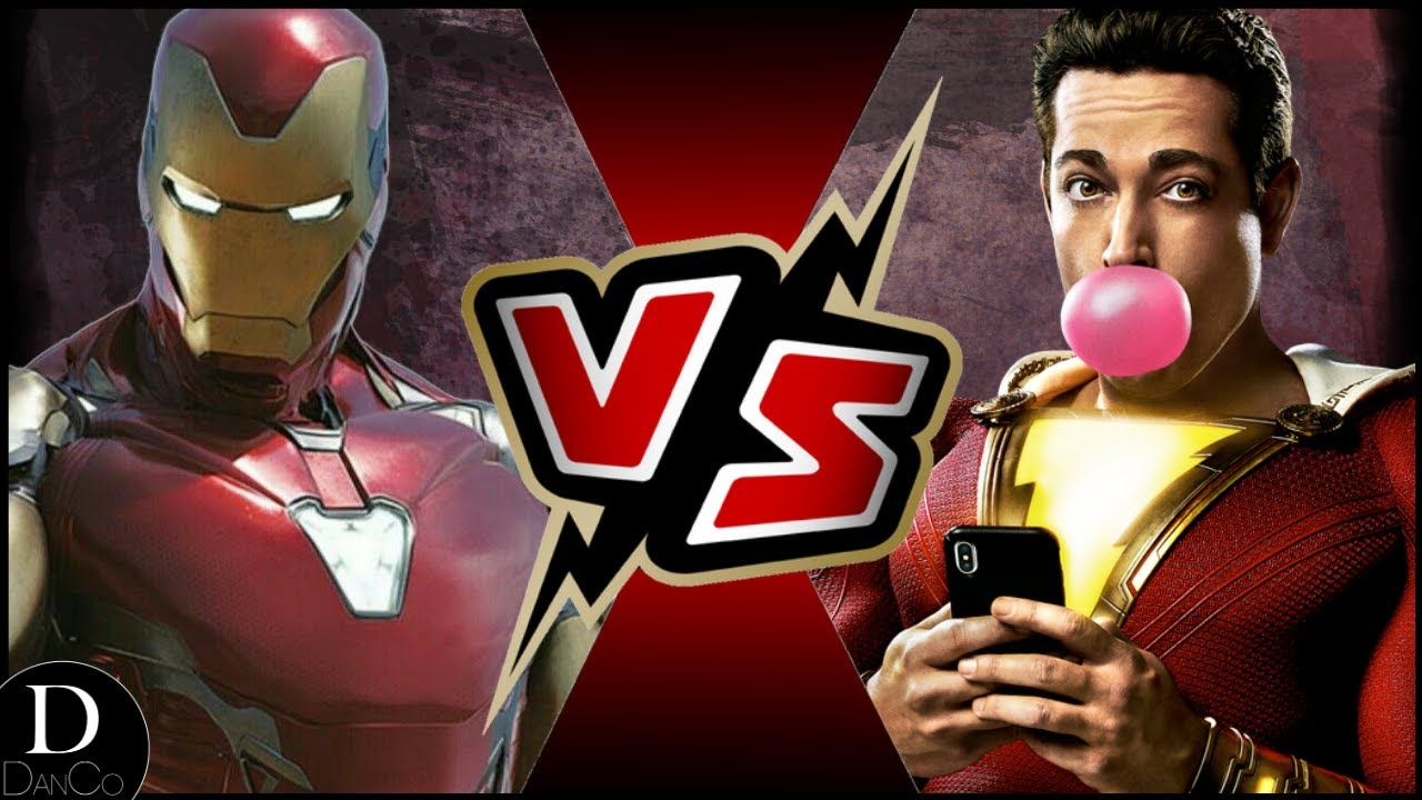 Iron Man Mcu Vs Shazam Dceu Battle Arena Re Upload Youtube
