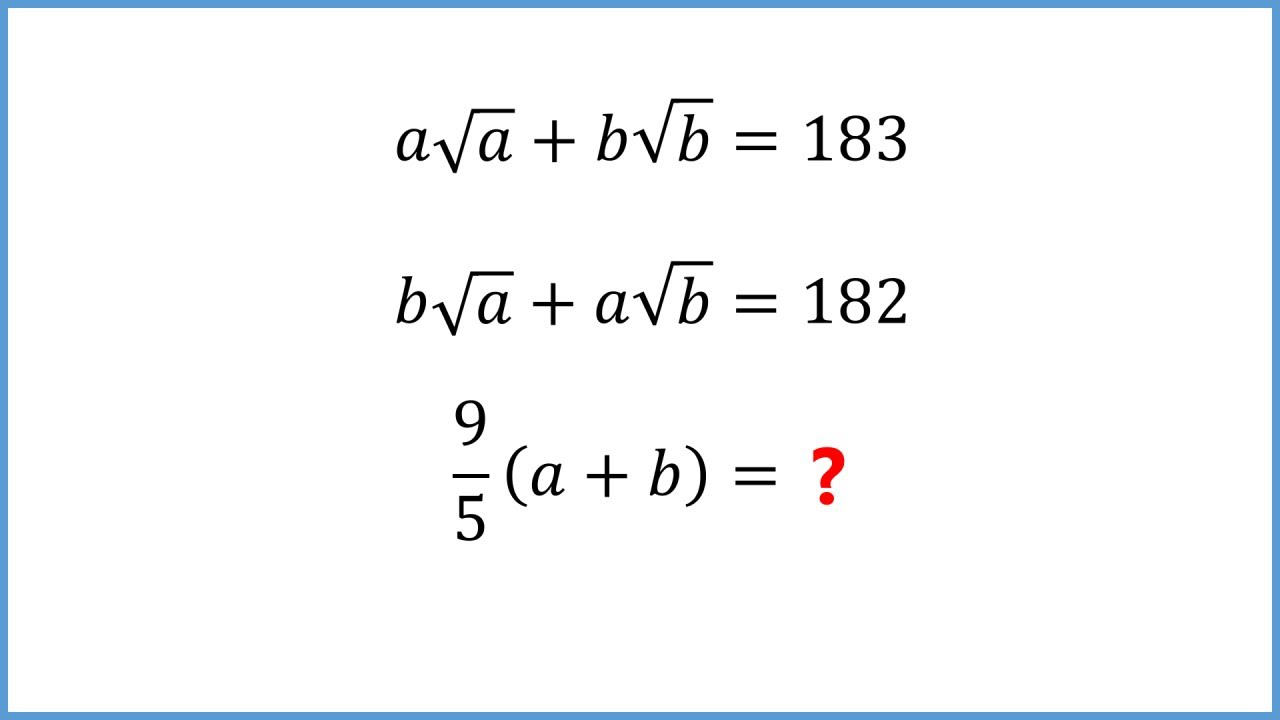 Solving a tricky sum of square roots (Olympiad practice)