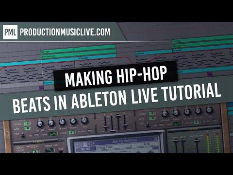 Making Hip Hop Beats in Ableton Live Tutorial Rap RnB Black Old School DRE Style Walkthrough thumbnail