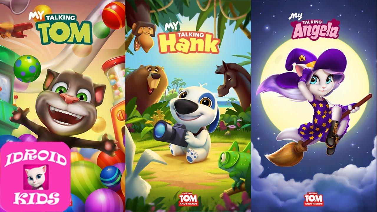 edcb8940ad582 My Talking Tom Level 1 VS My Talking Hank Level 1 VS My Talking Angela  Level 1