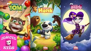 My Talking Tom Level 1 VS My Talking Hank Level 1 VS My Talking Angela Level 1