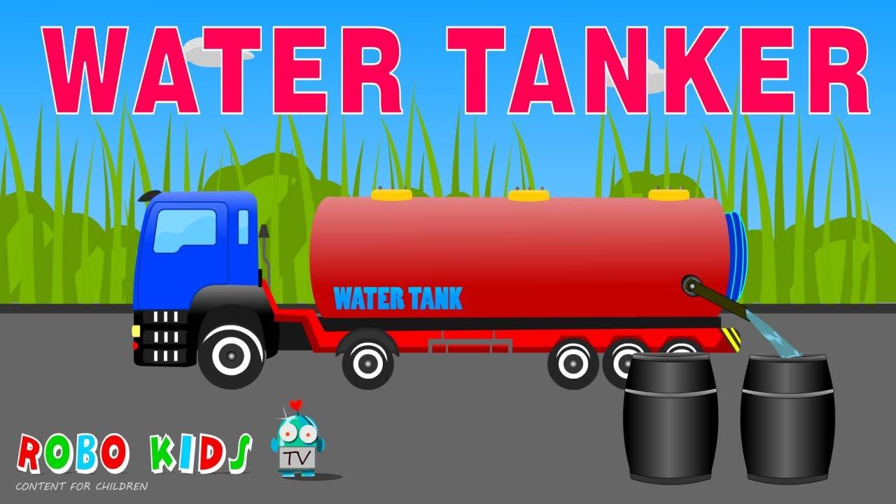 Water Tanker Videos for Children | Tanker Videos for Kids ...