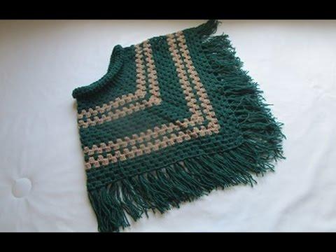 Crochet Uncinetto Poncho Tutorial Youtube